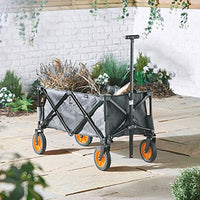 Camping Folding Trolley Cart For Garden With Lining 4 Wheeled Festival NEW