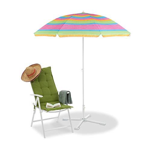 25-32 mm Relaxdays Parasol Stand Foldable Frame Handy Umbrella Base White
