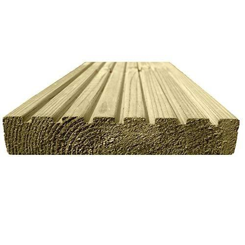 100mm x 22mm Ruby 4 x 1 Pressure Treated Sawn Timber Boards 6, 1.8m