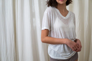 Threadbare Bone White V-Neck