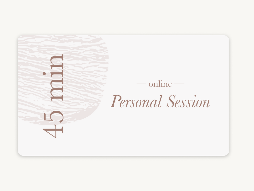 Book a 45 min. Personal Session