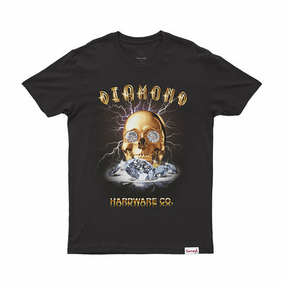 T-SHIRT DIAMOND GOLDSKULL TEE - C19DMPA004