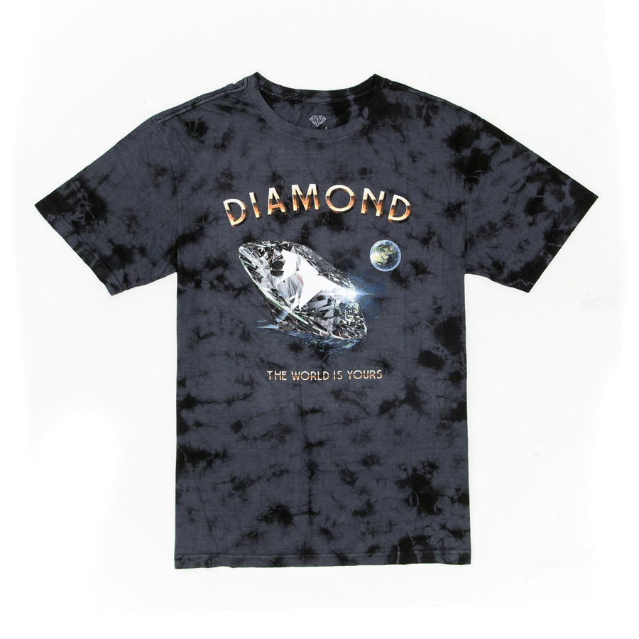 T-SHIRT DIAMOND WORLD IS YOUR WASH TEE - C19DMPO007 - Diamond Supply Co. Brasil