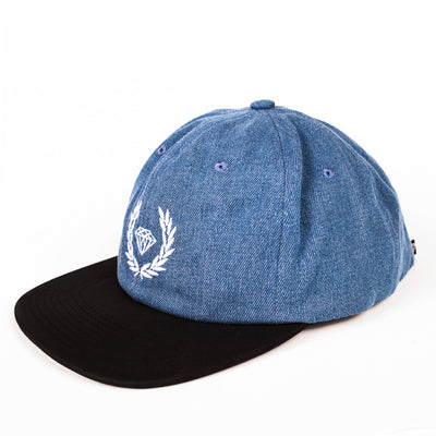 HEADWEAR DIAMOND BRILLIANT CREST DENIM STRAPBACK