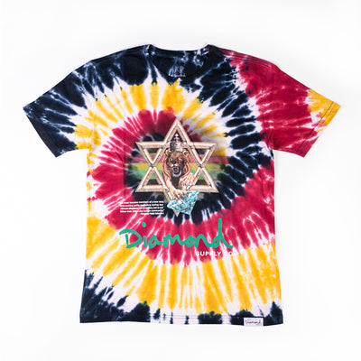T-SHIRT DIAMOND STAR OF DAVID TIE DYE TEE - D19DMPZ017