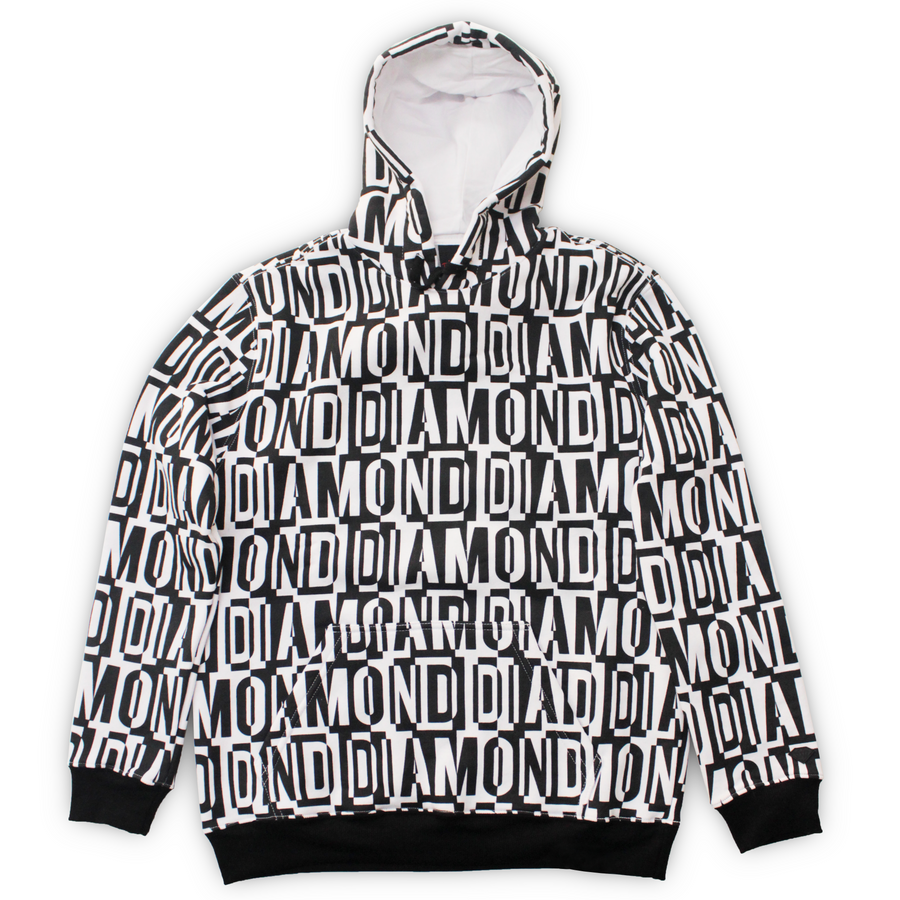 SWEATSHIRTS DIAMOND JUMBLED HOODIE - D19DMTG300 - Diamond Supply Co. Brasil