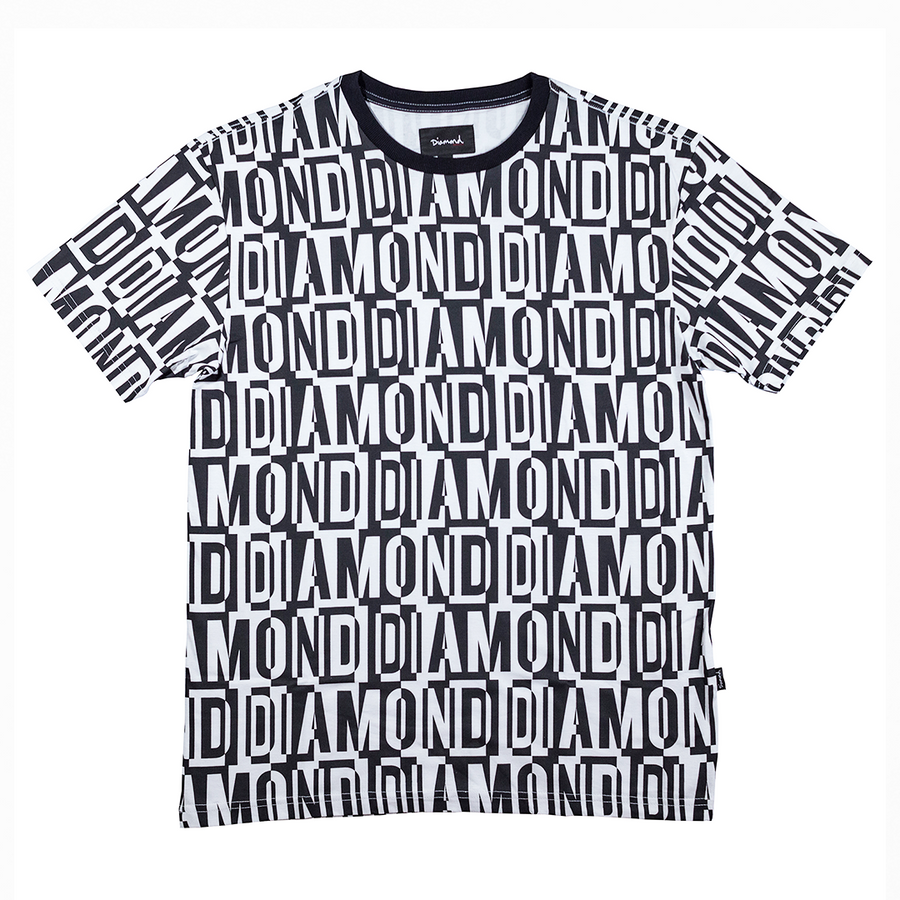 T-SHIRT DIAMOND JUMBLED TEE - D19DMTF300