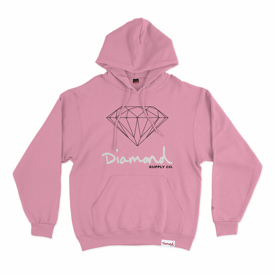 SWEATSHIRTS DIAMOND OG SIGN HOODIE - Z16DPF03-CR - Diamond Supply Co. Brasil