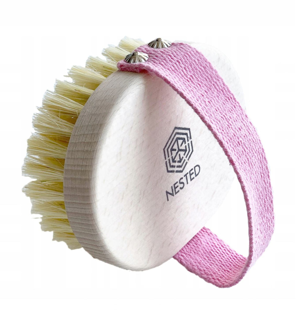 Nested | Body Massage Dry Brush Pink