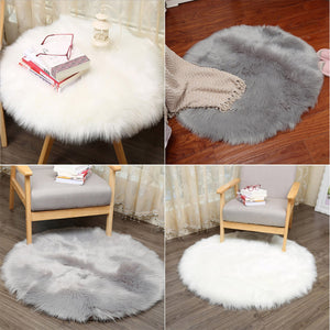 Soft Artificial Sheepskin Rug Chair Cover Artificial Wool Warm Hairy Carpet Seat