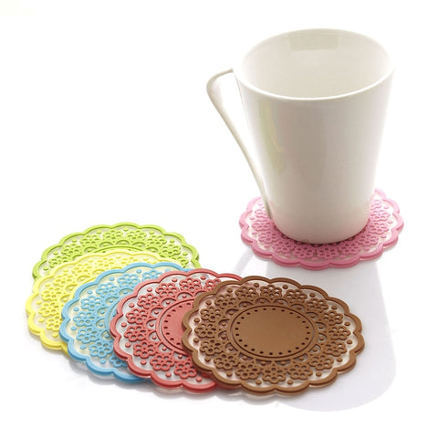 Semi-transparent candy color cup mat Creative home Home Furnishing daily life daily necessities and practical cup mat