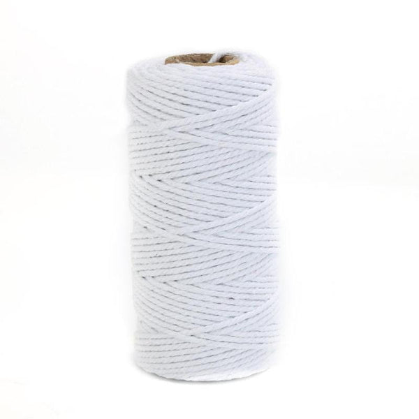 100m White Cotton Cord Natural White Twisted Cord Rope Craft Macrame String DIY Handmade Home Decorative