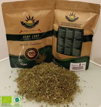 eco-cannabis - Finely Ground Flour Hemp Tea (75g) - Eco Certified (HR-EKO-07)