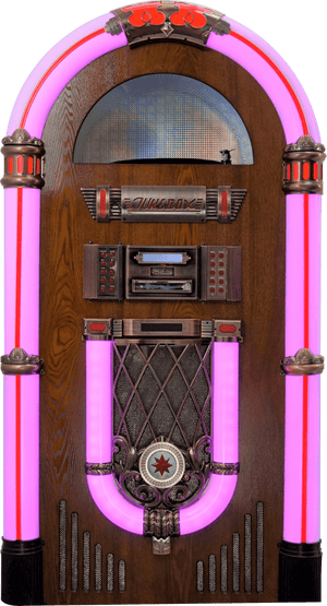 Full Size Classic 7-Color Changing Led Vinyl Jukebox - Anemos Home Decor