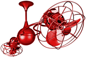Italo Ventania Red Ceiling Fan - Anemos Home Decor