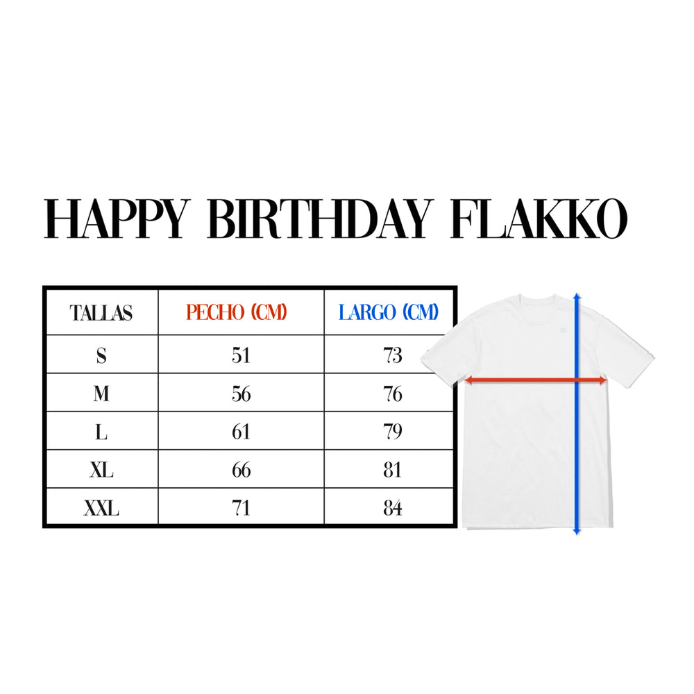Happy Birthday Flakko Camiseta Blanca