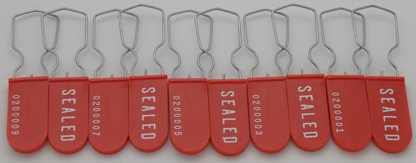 Electric Utility Meter Tag Security Padlock Seal Pack of 10 Red