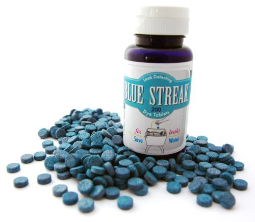 Blue Streak Pro 200 Dye Tablets Detect Silent Leak Bulk in EZ Pour detection