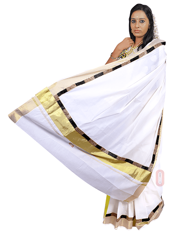 Designer Kerala Saree PS542