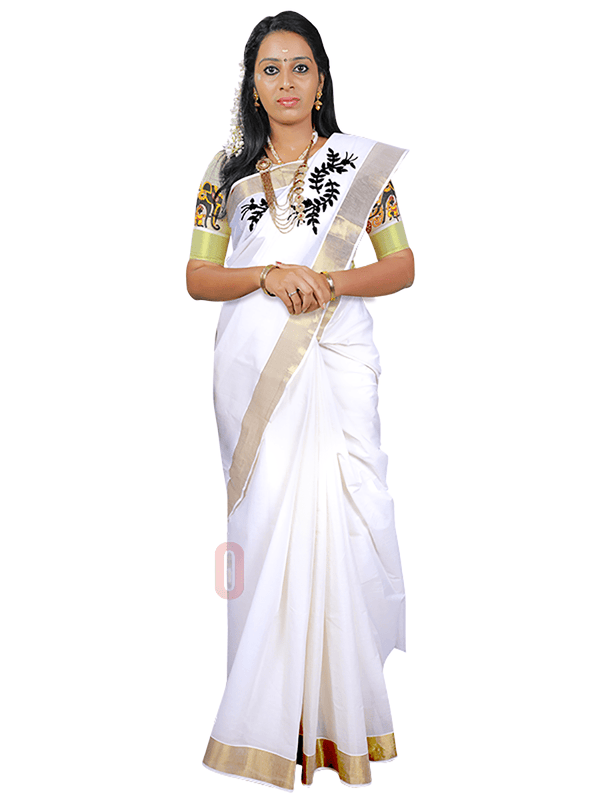 Designer Kerala Saree PS543