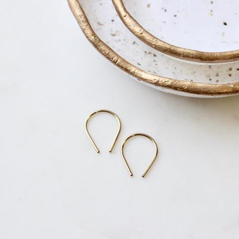 Tiny Horseshoe Earrings