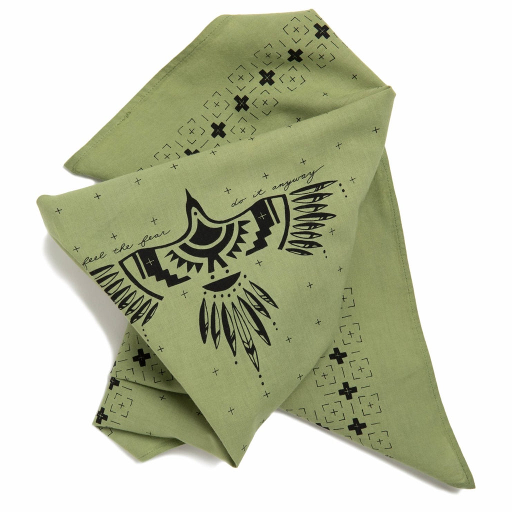'feel the fear' bandana
