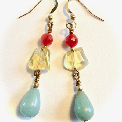 Gemstone Eye Candy Earrings