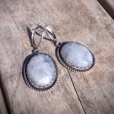 Moonstone Flashy Earrings