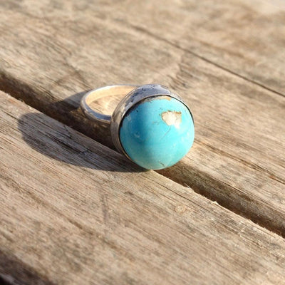 Blue Moon Highgrade Turquoise and Sterling Silver Ring 6