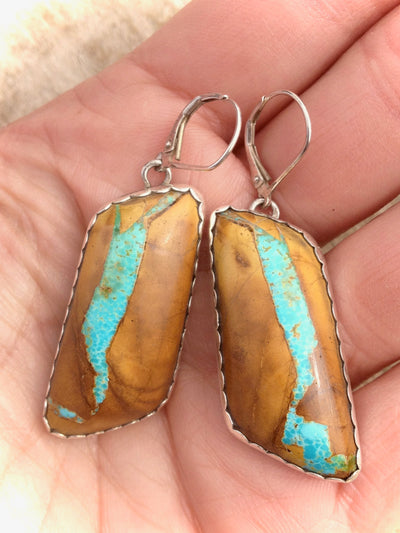 Royston Highgrade Ribbon Turquoise Earrings