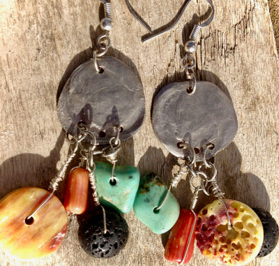 Smashed Coin Treasure Earrings