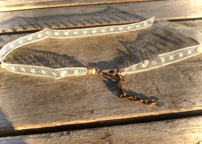 Vintage Lace Golden Heirloom Necklace