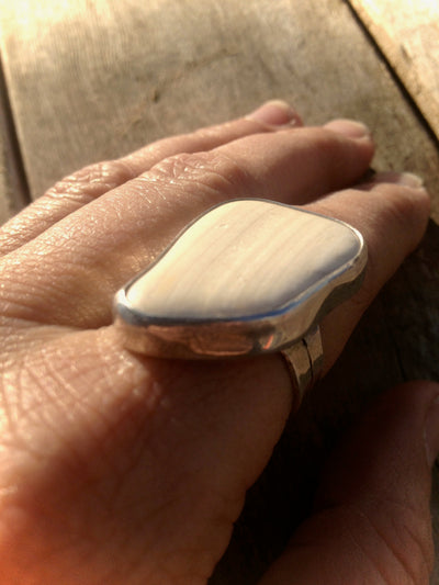 Sea Shell Sterling Ring 8.5