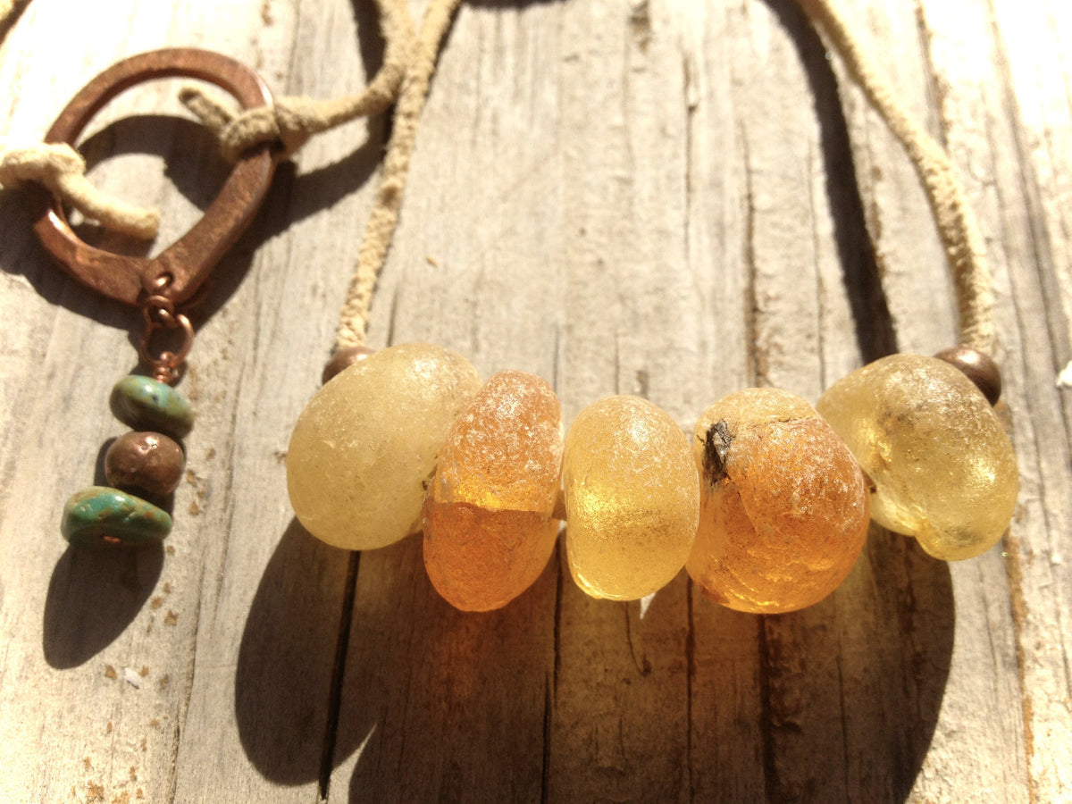 Amber Africa Necklace