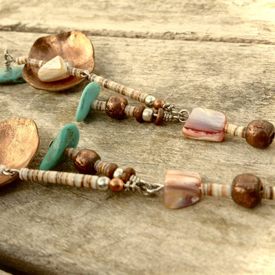 Smashed Coppertone Baja Earrings
