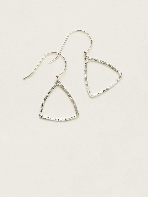 Modern meets classic in our Delta Earrings. Rounded triangles, gently hand-hammered, dangle lightly for an unexpected yet understated look.