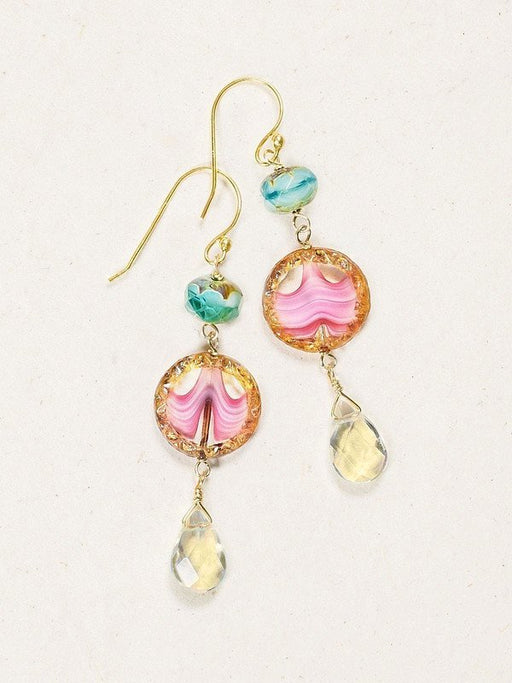 Three drops of darling sweetness hang from delicate ear wire in our Clementine Earrings. The perfect pretty accent for a casual afternoon, wear these lovely dangles to the farmers market, Sunday brunch, or a stroll on the beach.