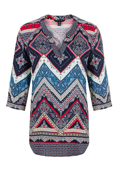 Tribal Chevron Blouse