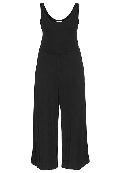 This cropped leg jumpsuit is perfect loungewear and so comfy. Pair it with your favorite jean jacket and jewelry and you're ready for a night out.  95% rayon 5% spandex