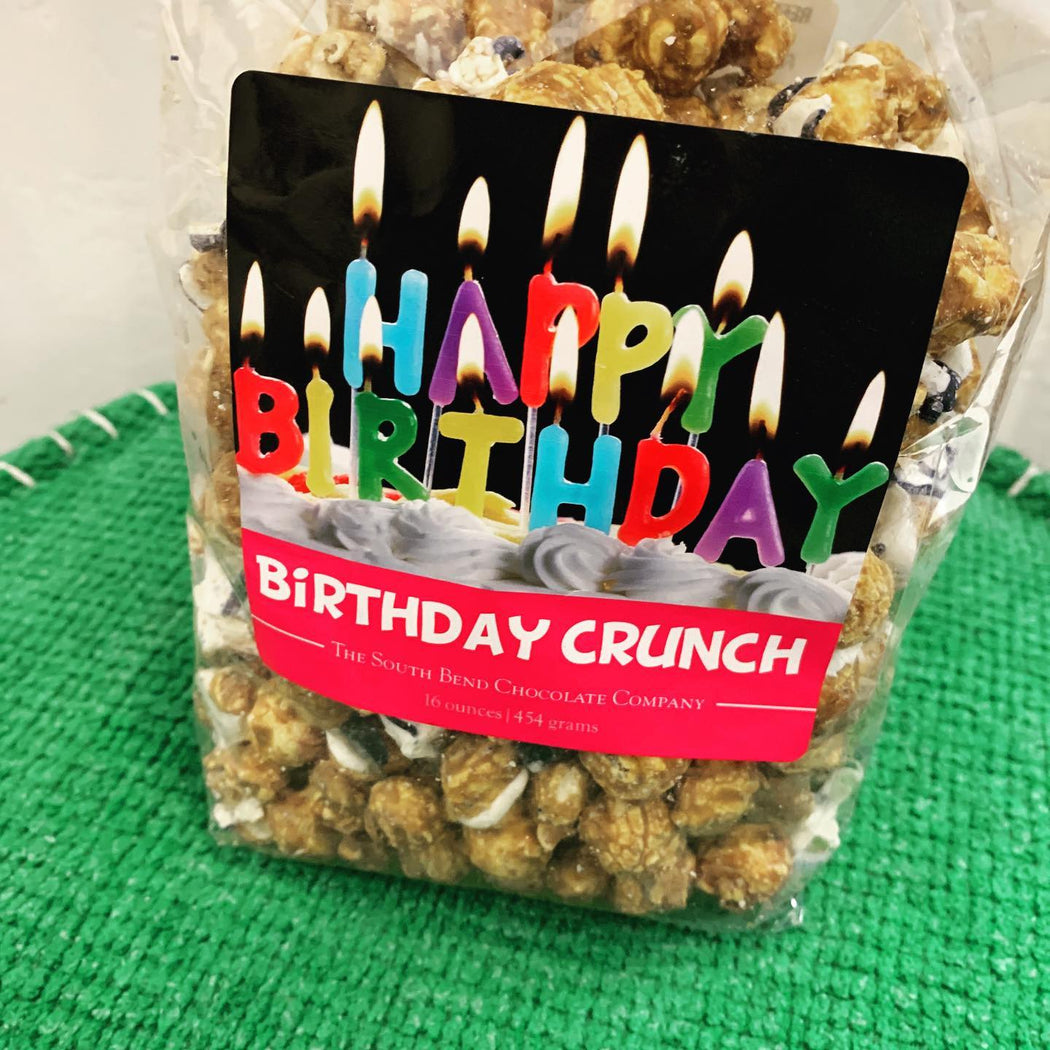 Do you know someone who has a birthday 🎁 right now? It would seem like a hard time to have a birthday 🎂 right now with all that's going on! We have you covered! Send them this delicious Birthday Crunch Snack Mix! Caramel corn drizzled with white and dark chocolate, sprinkled with sea salt.