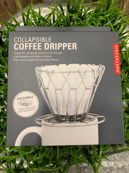 "Aromatic pour over with no fuss. Easy to fold and store, fits any paper filter. Great for storage and on the go.      Works with paper filters of any size     Collapsible for easy storage     2.73""Dia. x 8.74""H"