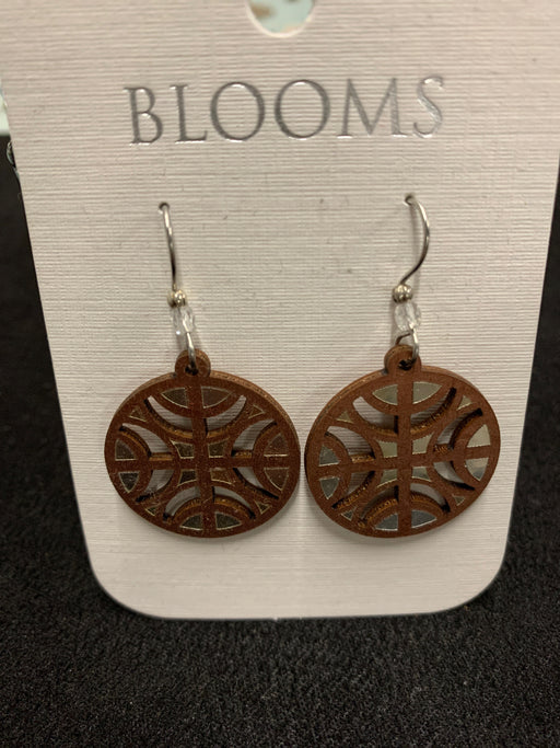 Laser cut wood earrings. Hypo-Allergenic Ear-wires. Made in the USA.