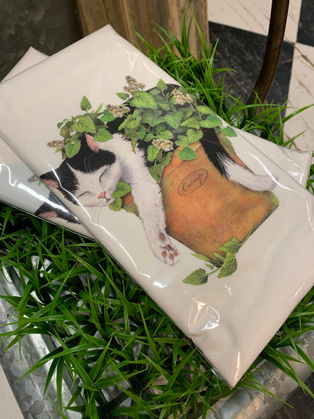 Cat In Catnip Towel