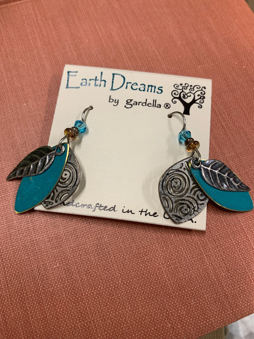 Earth Dreams Turquoise Leaf Earrings