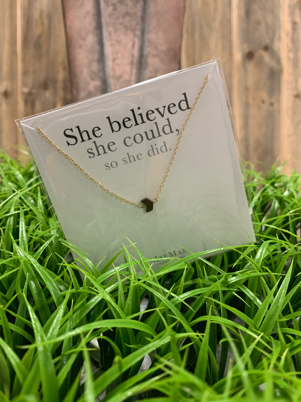 She Believed She Could, So She Did Necklace