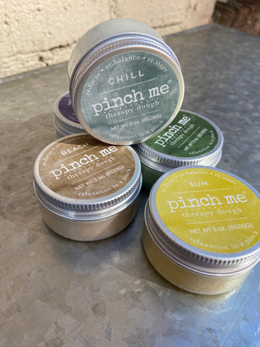 Say hello to Pinch Me, a holistic, drug-free, portable stress-reduction tool. This pliable putty was expertly developed to be the ideal texture for perfect pinchability. When you feel a hint of stress, pull out your container. Gently knead away nuisances, or use it while you're relaxing to decompress and get back to center.