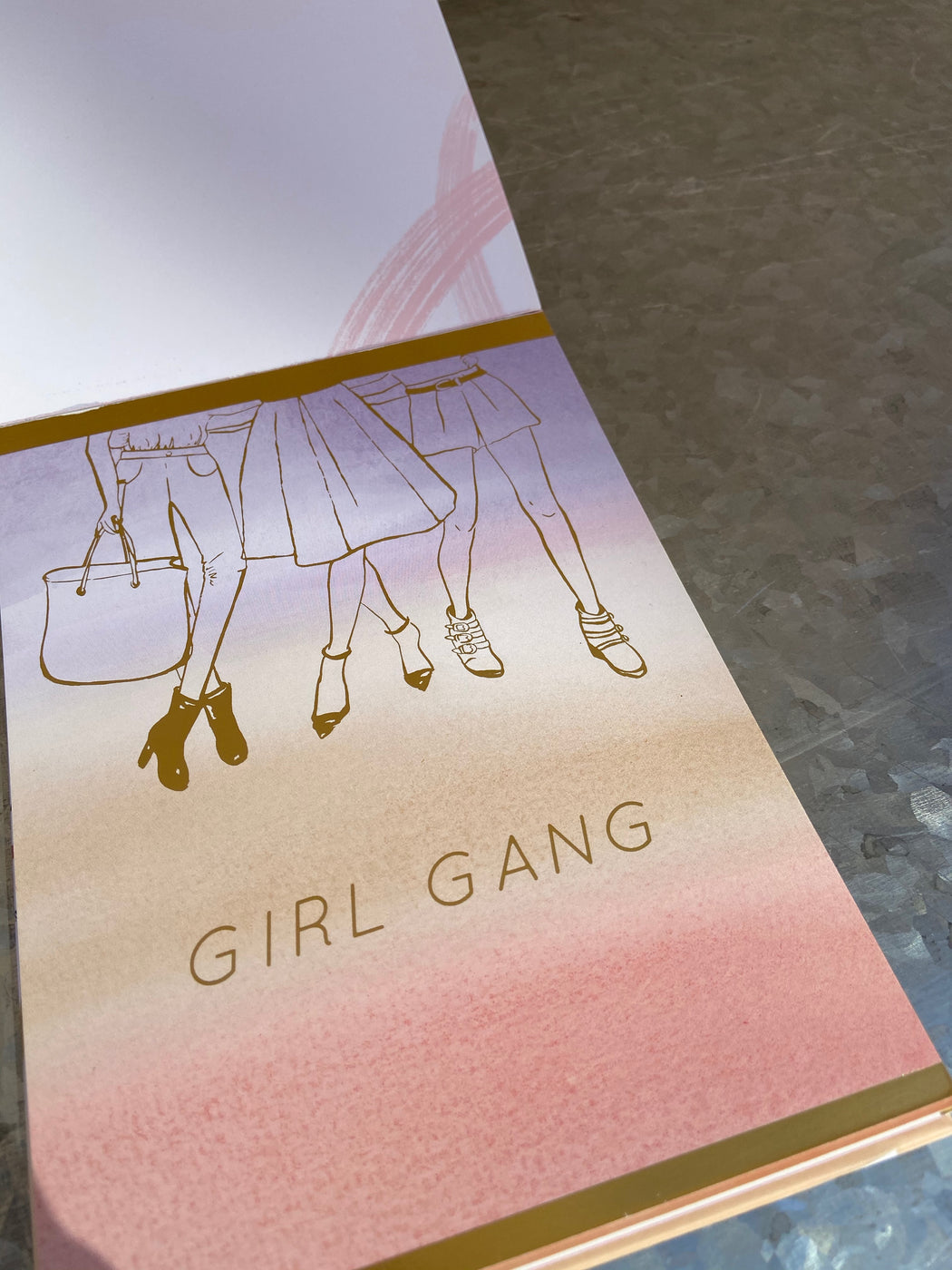 Each card contains empowering words to inspire you and your gal pals.  Frame and display for daily inspiration at home or at work, or spread the girl power and give to a friend.  12 Unique full color designs  Gold foil on every card  5x7""