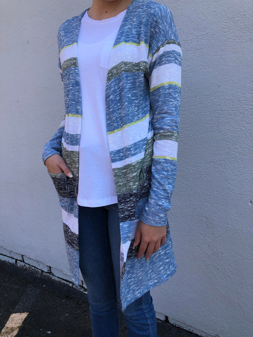 Mix-and-match this lightweight cardigan with almost anything in your closet! The always popular longline cardigan is ultra-soft and has a flowy open front that lends movement to this must-have layer.