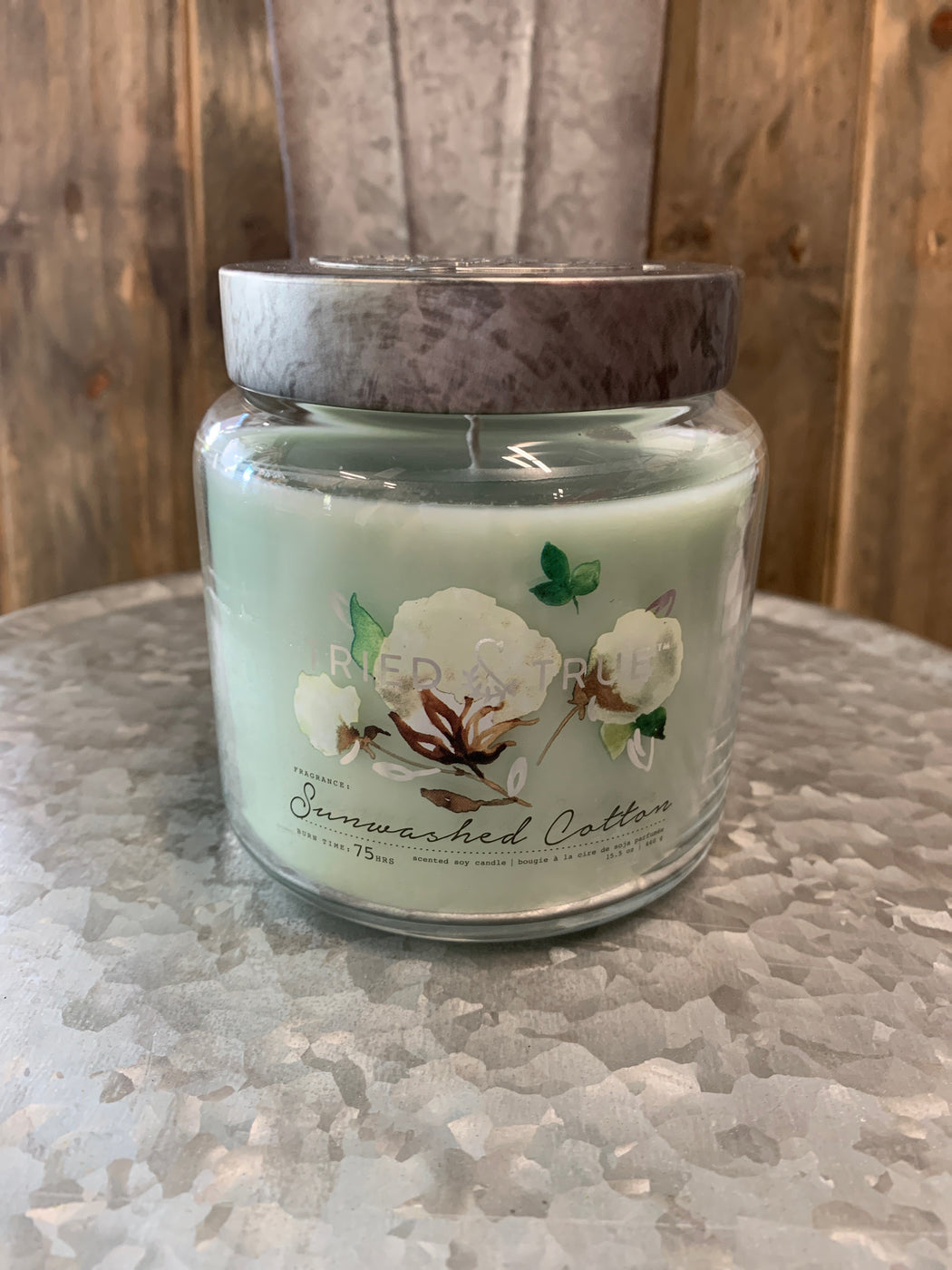 Bring the warmth and freshness of line-dried sheets to your bedroom or living room when you light this 15.5-ounce jar candle featuring notes of lavender, water lily and white jasmine. When lit, this candle's soft, ambient lighting and its unforgettable fragrances provide hours of joy and comfort. Perfect for hostess gifts, stocking stuffers and appreciation gifts.      Soy-blend wax scented candle in glass jar.     Fragrance: Notes of lavender, water lily, white jasmine.     Includes 1 wick and metal lid.