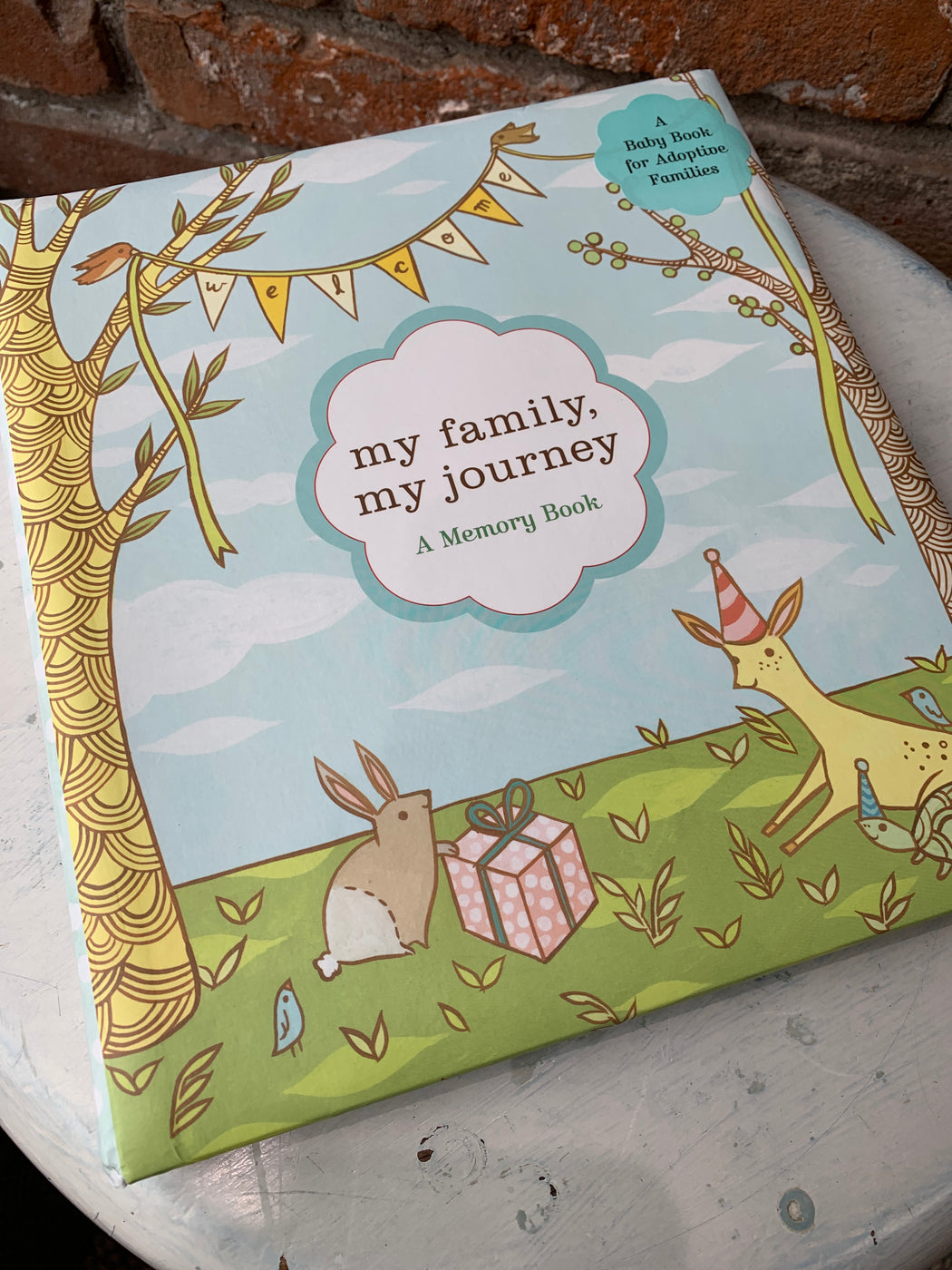 Chronicle Books is proud to offer a baby book that suits the wide array of experiences and choices that bring a family and their new child together. This lovely keepsake album contains sections to record all the joyful milestones and cherished family moments that mark a new baby's life, pages to chart the adopted child's unique journey, as well as a sturdy pocket in which to store important documents and memorabilia. Inside the pocket are over 60 stickers you can use to customize the family tree pages. As t